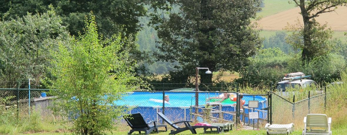 Ons zwembad op de camping