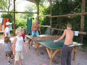 Tafeltennis op de camping in de Allier